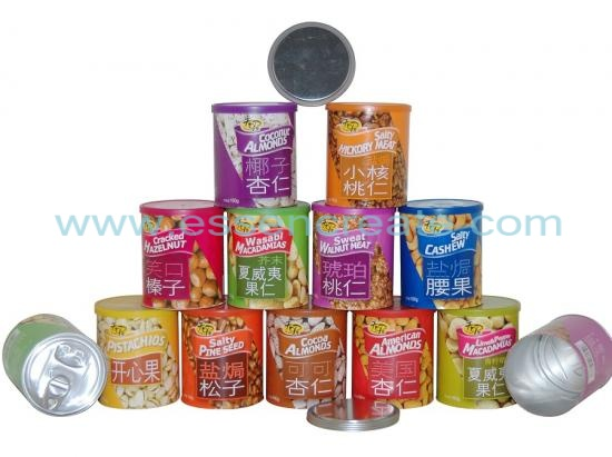 Paper Packaging Nuts Canister