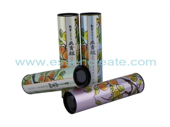 Green Orange Tea Ball Packaging Paper Canister