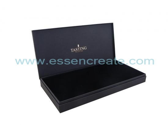Black Fancy Paper Rigid Gift Box